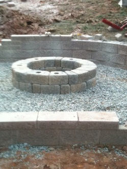 Paver Patio Walkway and Firepit